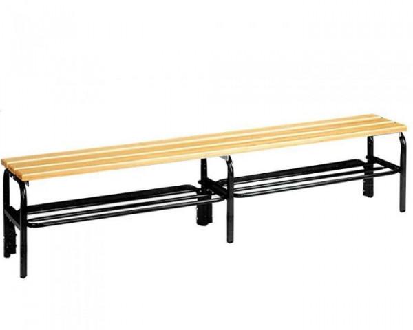Umkleidebank ohne Lehne Sitzfläche Holz für Innenbereich