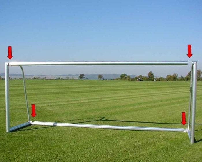 Jugendfußballtor Aluminium 5 x 2 m  teilverschweißt Netztiefe 80/150 cm