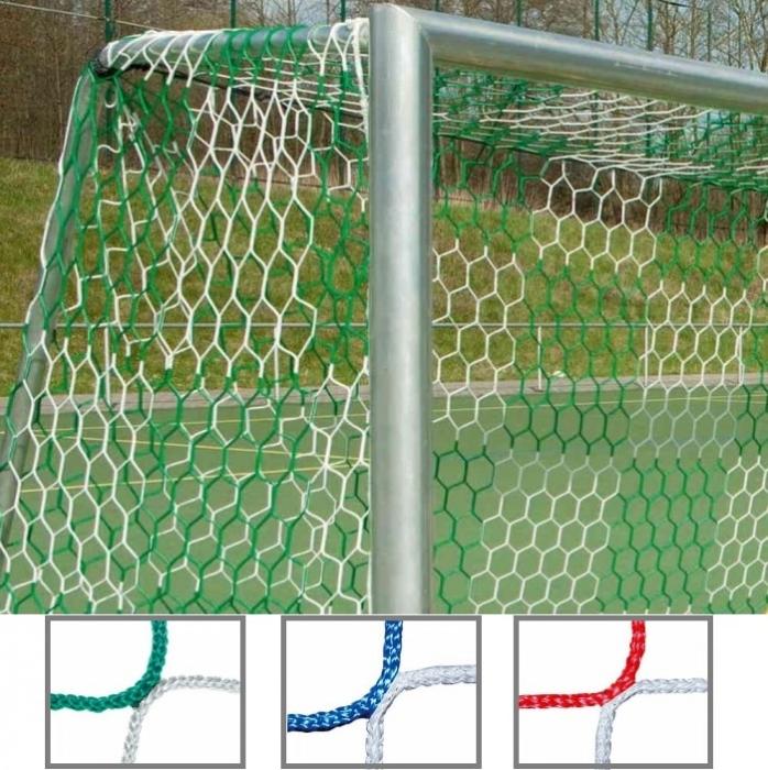 Tornetz 5,15 x 2,05 m für Jugendtor 2-farbig Schachbrettmuster Tortiefe oben 100 cm unten 100 cm