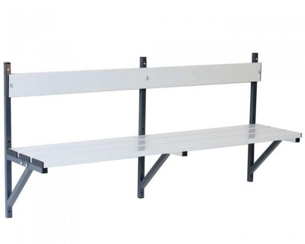 Umkleidebank Wandmontage Sitzfläche Alu für Feuchtbereich