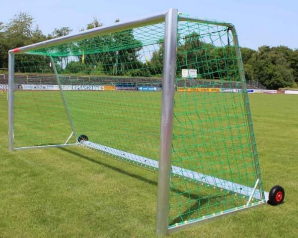 Jugendfußballtor Aluminium 5 x 2 m vollverschweißt kippsicher Netztiefe 80/150 cm