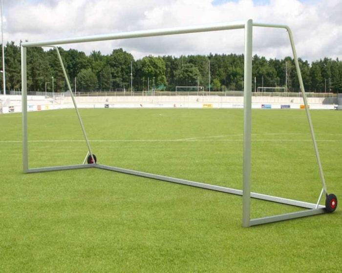 Freistehendes Fußballtor 7,32 x 2,44 m  Aluminium vollverschweißt Mobil Netztiefe 80/200 cm