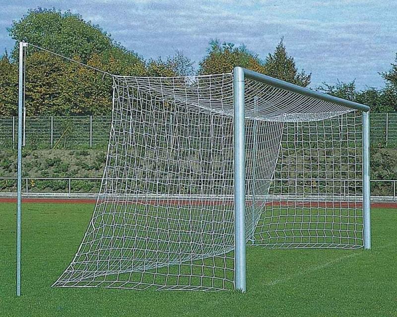 Fußballtor Alu silber 7,32 x 2,44 m mit freier Netzaufhängung eckverschraubt