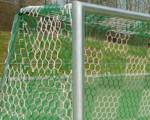 Tornetz 5,15 x 2,05 m für Jugendtor 2-farbig Schachbrettmuster Tortiefe oben 80 cm unten 150 cm