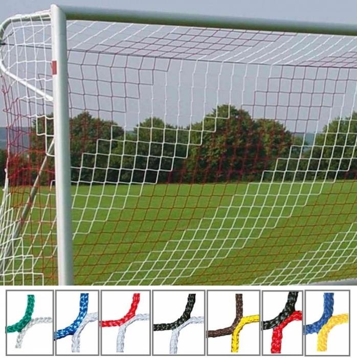 Tornetz 5,15 x 2,05 m für Jugendtor 2-farbig in Vereinsfarben Tortiefe oben 80 cm unten 150 cm