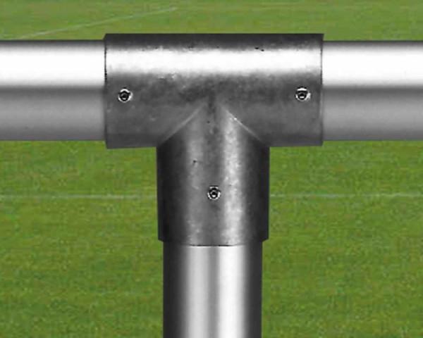 T-Verbindungselement für Sportplatz Barriere 60 mm