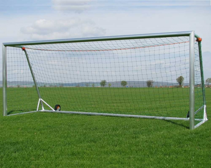 Jugend Fußballtor Aluminium 5 x 2 m  vollverschweißt kippsicher Netztiefe 80/150 cm