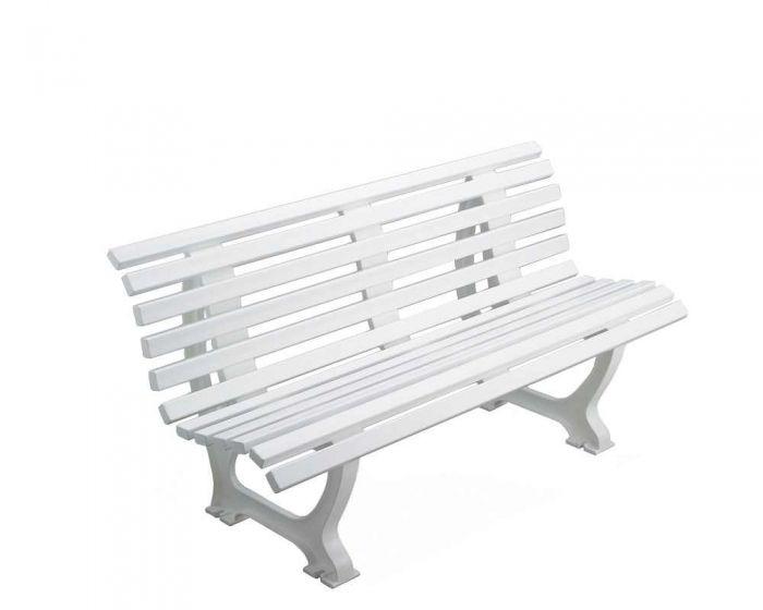 Sportplatz Sitzbank  *Borussia* 150 cm weiß