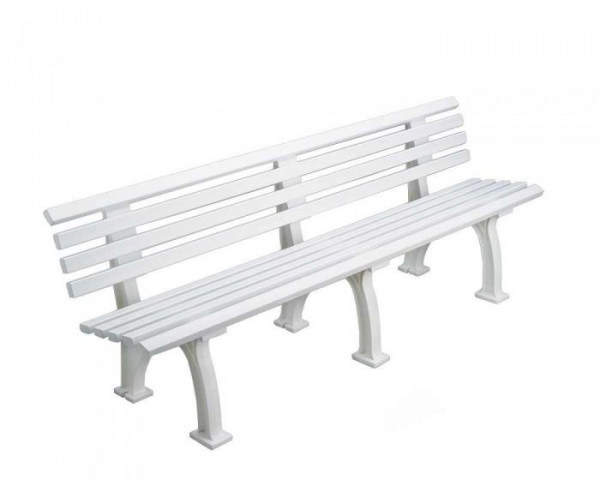 Sportplatz Sitzbank *Real* 200 cm weiß