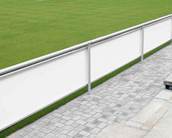Bandenwerbung Systeme  für vorhandene Sportplatz Barriere mit oder ohne 24 mm Werbebanden