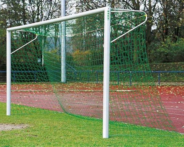 Fußballtor Alu silber 7,32 x 2,44 m mit Netzbügel eckverschweißt