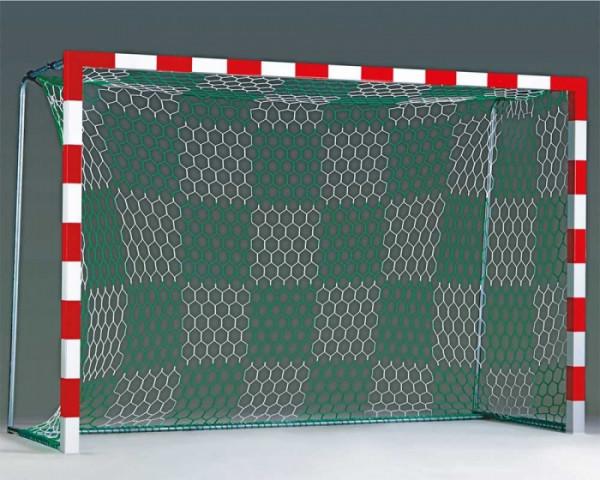 Tornetz 3,10 x 2,10 m für Kleinfeldtor 2-farbig blau/weiß Schachbrettmuster Tortiefe 80/100 cm