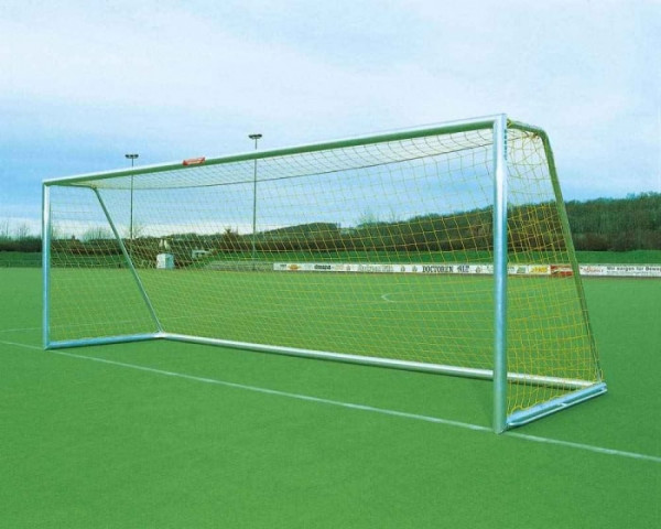 Freistehendes Fußballtor 7,32 x 2,44 m Aluminium vollverschweißt Netztiefe 80/150 cm
