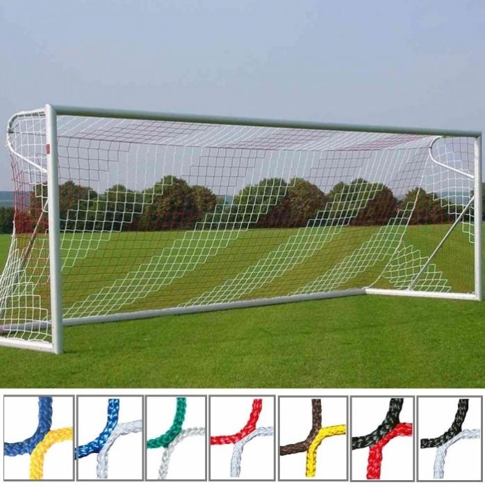 Tornetz 7,50x2,50m 2-farbig in Vereinsfarben Tortiefe oben 80cm unten 200cm