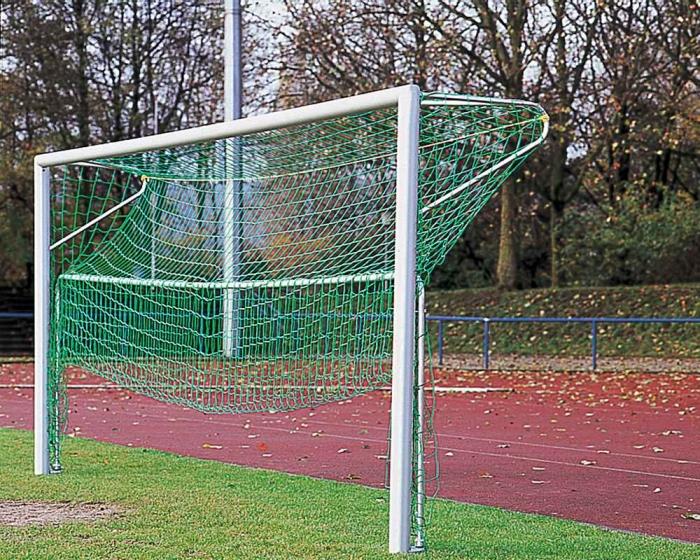 Bodenrahmen für Kleinfeldtor  3 x 2 m verstellbare Netztiefe 1,20 - 1,00 m
