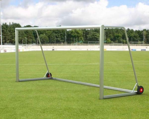 Jugendfußballtor Aluminium 5 x 2 m vollverschweißt mobil Netztiefe 80/150 cm