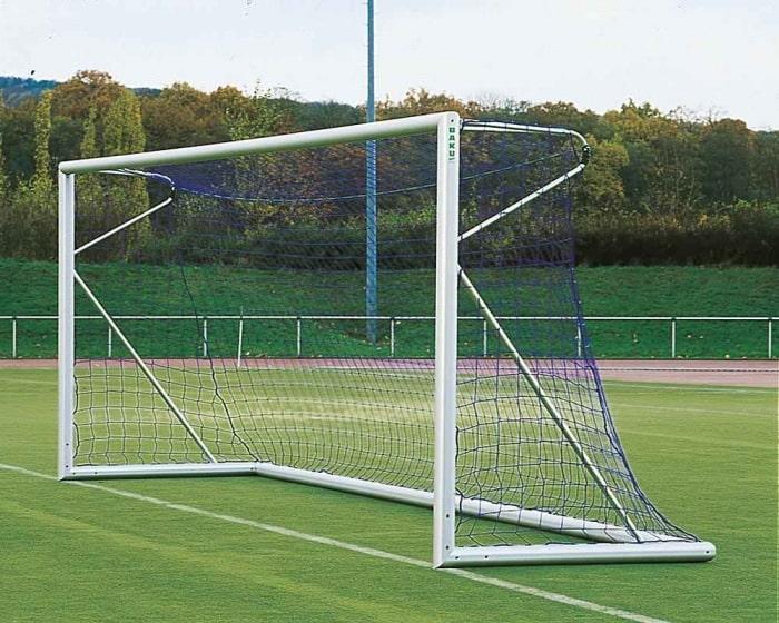 Freistehendes Fußballtor 7,32 x 2,44m Aluminium eckverschraubt Netztiefe 80/150 cm
