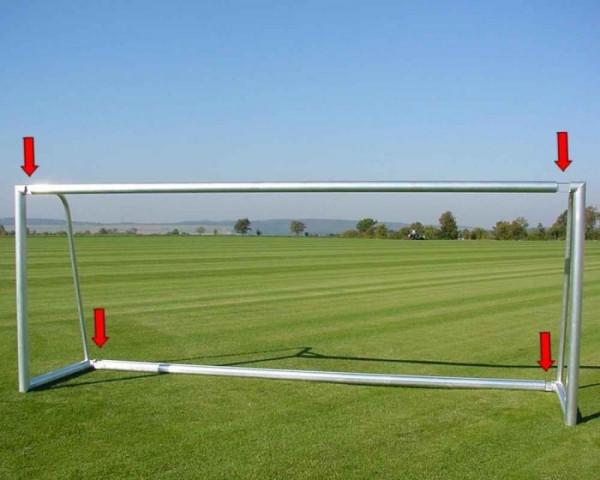 Freistehendes Fußballtor 7,32 x 2,44 m Aluminium teilverschweißt