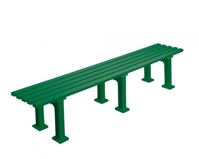 Sportplatz Sitzbank  *Eintracht* 200 cm grün ohne Lehne