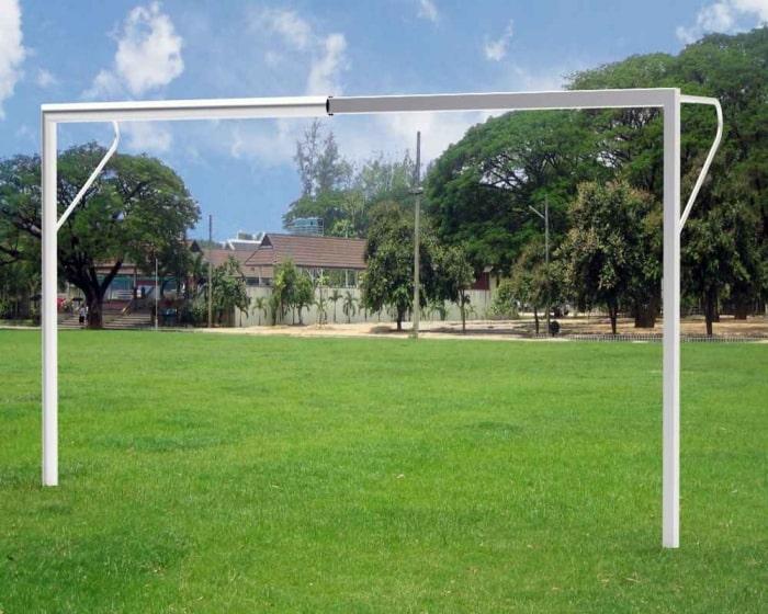 Jugend Fußballtor 5 x 2 m Aluminium mit Netzbügel  Profil 120x100 mm eckverschweißt