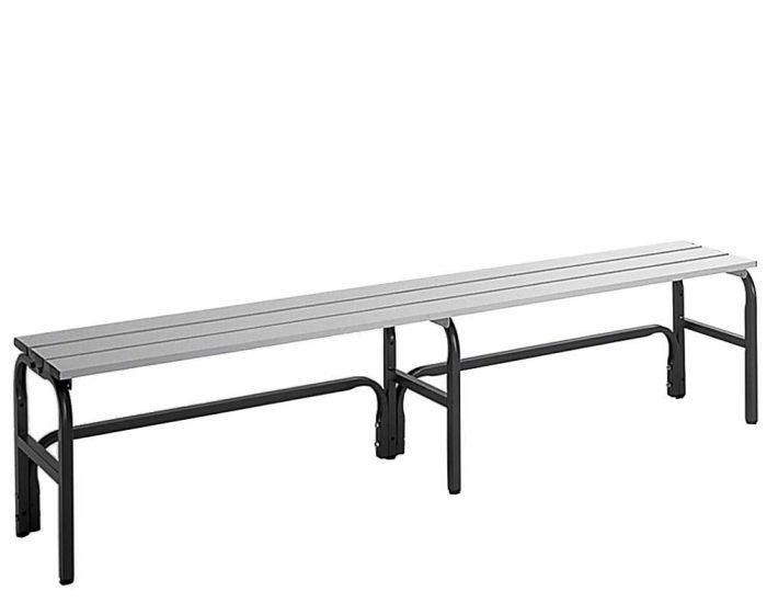 Umkleidebank ohne Lehne Sitzfläche Alu  für Feuchtbereich