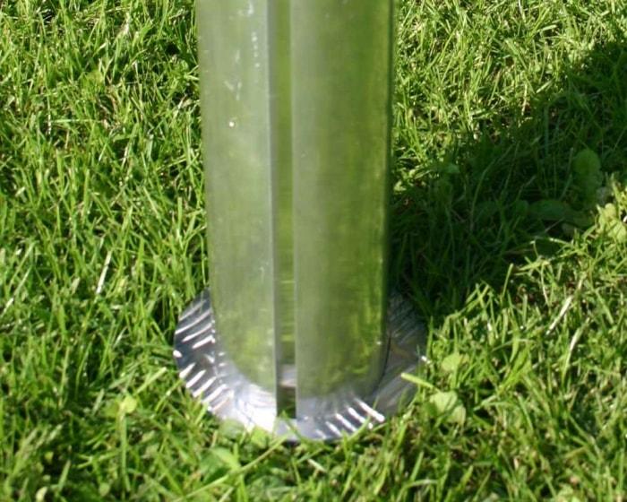 Pfostenmanschette für  Oval-Profil 120x100 mm