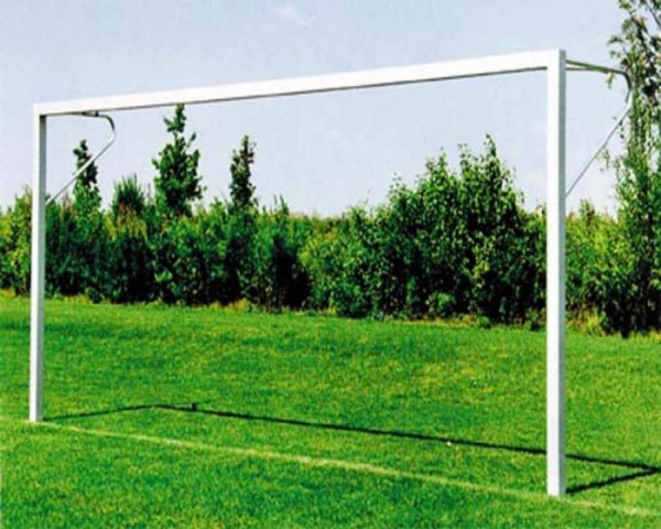 Kinder Fußballtor 5 x 2 m Aluminium mit Netzbügel Profil 80x80 mm eckverschraubt