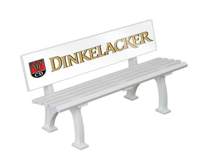 Spieler- und Trainerbank mit GFK Rückenlehne