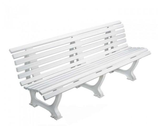 Sportplatz Sitzbank *Athletico* 200 cm weiß
