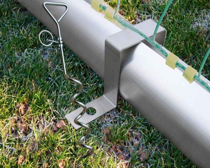 Bodenverankerung Antikipp für  Bodenrahmen Ovalprofil