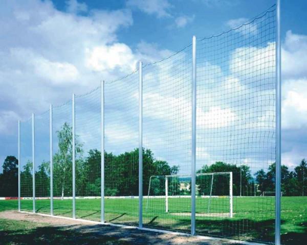 Ballfangzaun Komplettanlage Pfosten 80 x 80 mm mit Spannseil