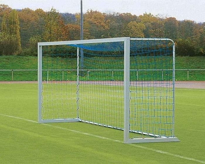 Jugend Fußballtor Aluminium 5 x 2 m  eckverschraubt Bodenrahmen 80x80mm Netztiefe 120 cm